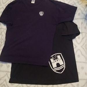 2 Volkswagen Shirts vw / Wolfsburg